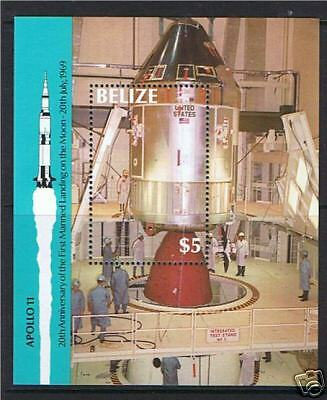Belize 1989 Anniv of Moon Landing M.S.1059 MNH