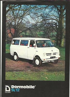 Bedford Cf Mark I Dormobile Sl12 'sales Brochure' Sheet @1973