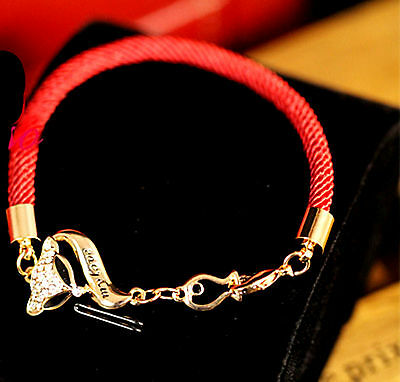 Feng Shui andmade Fox bracelet with red string Infidelity Protection Amulet