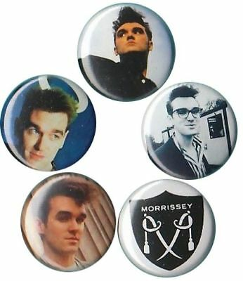 Morrissey: Set of 5 Pins-buttons-Badges the smiths UK