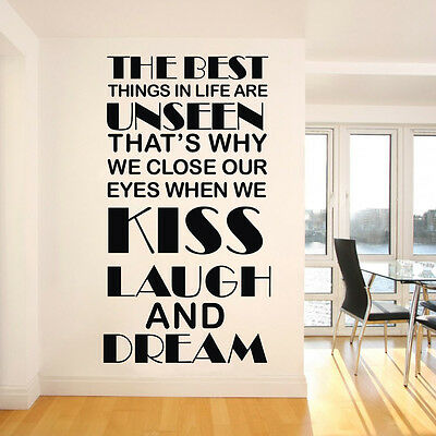 """""""THE BEST THINGS IN LIFE"""" Vinyl Art Wall Sticker Decor Living Room Decal"""