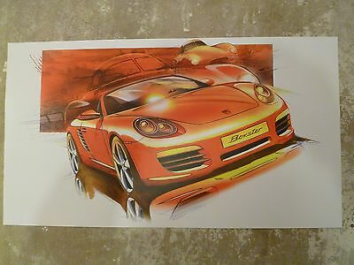 2009 Porsche Boxster S Roadster Showroom Advertising Poster RARE!! Awesome L@@K