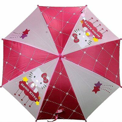 Hello Kitty FU3069235 Shooting Stars Pink Molded Handle Umbrella