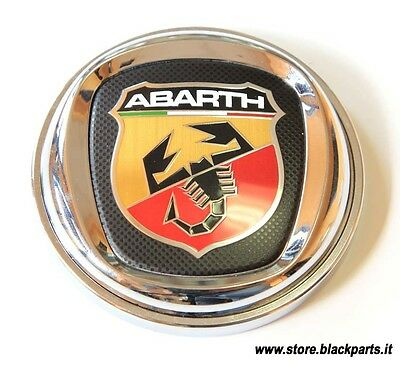 Fermacarte con logo Abarth originale, diametro 90 mm