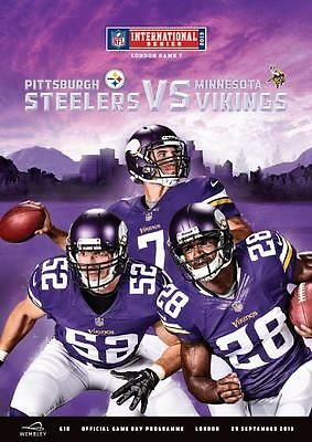 MINNESOTA VIKINGS v PITTSBURGH STEELERS NFL WEMBLEY STADIUM 2013