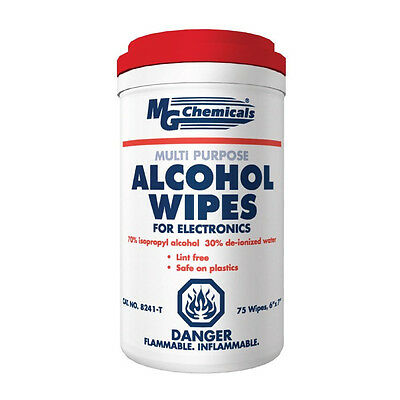 MG Chemicals 8241-T Multi Purpose Alcohol Wipe (70% IPA) NEW!!!