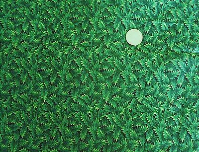Cotton Fat Quarter Green Holly Leaves Concord Fabrics