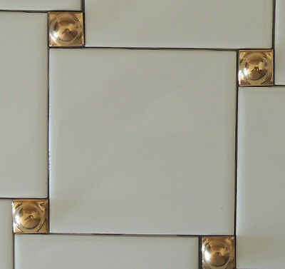 DECORATIVE WALL TILES-24K GOLD INSERTS (5) KITCHEN BACKSPLASH - Tile ...