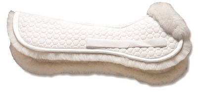 Mattes GOLD Wool Half Pad NO TRIM - All Purpose or Dressage - Black or White