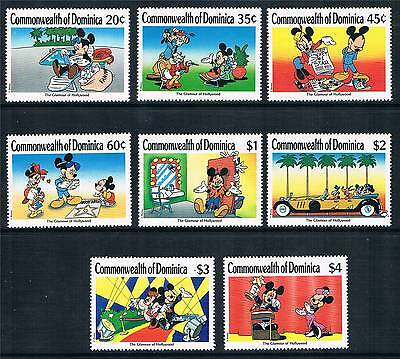 Dominica 1989 Mickey Mouse in Hollywood SG 1308/15 MNH