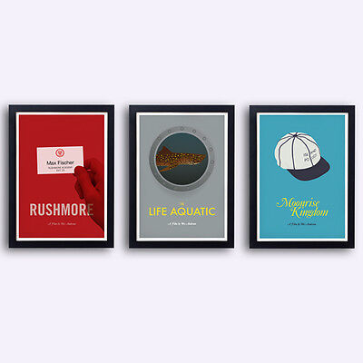 Wes Anderson Collection -  3 posters - Life aquatic Rushmore Moonrise Kingdom