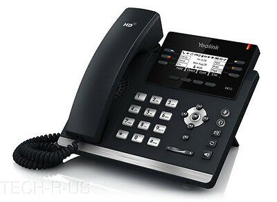 Yealink SIP-T42G HD Voice 3-Line VoIP IP Phone PoE Ready with Power Adapter