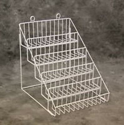 AYS Retail 5 Tier Multi-Purpose Wire Counter Display Rack (White)