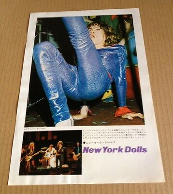 1973 The New York Dolls on stage JAPAN mag photo pinup /vintage clipping cutting