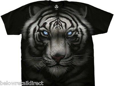 New Majestic White Tiger Black Men's T-Shirt Size Medium Large Extra Large