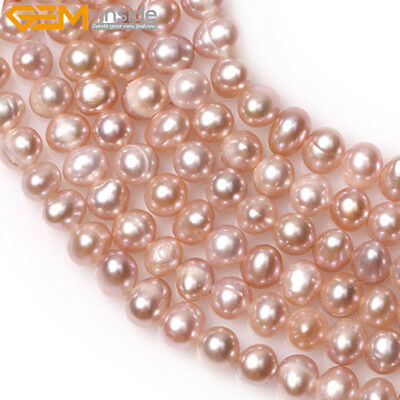 """Round Freshwater Pearl 5-6mm Jewelry Making Gemstone Loose Beads 15""""Colors Pick"""