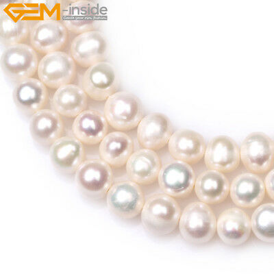 """Round 7-8mm Freshwater Pearl Jewelry Making Gemstone Beads 15"""" Colors Pick"""