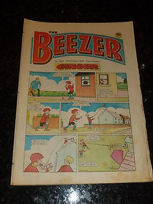 THE BEEZER Comic - Issue 1502 - Date 27/10/1984 - UK Paper Comic