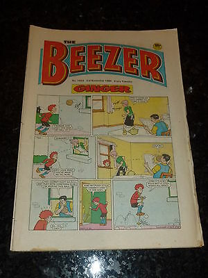 THE BEEZER Comic - Issue 1503 - Date 03/11/1984 - UK Paper Comic