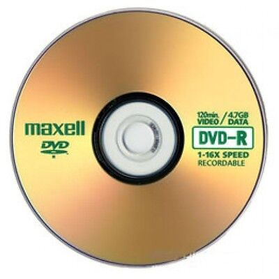 10 Maxell DVD-R DVDS 1-16x 4.7GB/120min Disc Discs in Sleeves