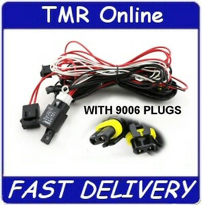 HB4 9006 HID Xenon Halogen Wiring Harness 500W 12V 40A Lamp Light Loom ProWire5