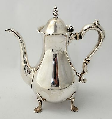 Gorham Sterling Tea Pot Coffee Pot 1 1/2 Pint  Number 603  Footed Queen Anne