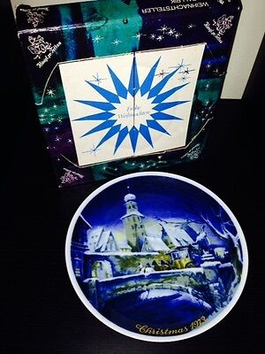 Royal Bayreuth Germany 1973 Christmas Plate In Original Box Limited Edition