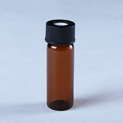10Pcs 4ml Amber Glass Auto-Sampler Vials Screw Thread Bottle With Lid and Seal