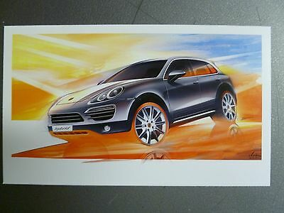 2011 Porsche Cayenne S Hybrid Left Front Style Collector Card RARE! Awesome L@@K