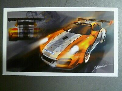 2011 Porsche 911 GT3 R Hybrid Right Side Style Collector Card RARE! Awesome L@@K