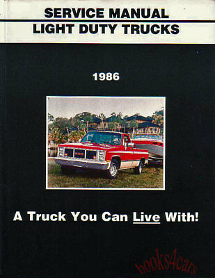 1986 CHEVROLET GMC C/K PICKUP TRUCK VAN SUBURBAN SHOP MANUAL SERVICE REPAIR BOOK
