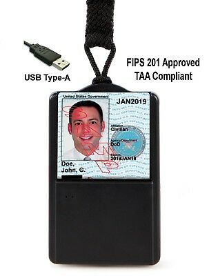 SGT118X-6 CAC PIV Smart Card Reader (USB A) (FIPS 201) (TAA Compliant)