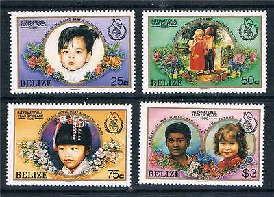 Belize 1986 Int Year of Peace SG 957/60 MNH