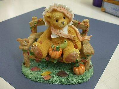 "Cathy ""an autumn breeze blows blessings to please"" cherished teddies NIB"