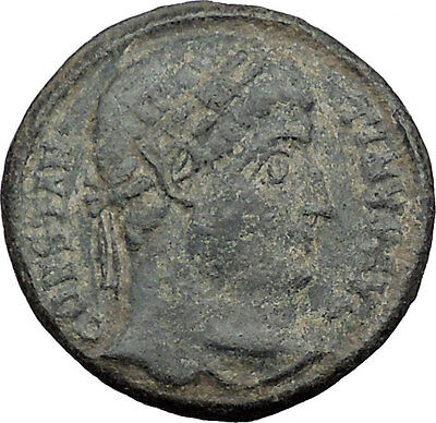 Constantine I the Great 325AD Architectural Military Camp Gate Roman Coin i32740