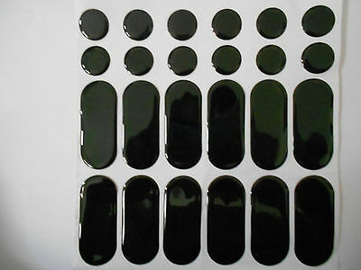 Gloss Black Gel Type Spots & Stripes Strips Tank Pad Protector Protection Shield