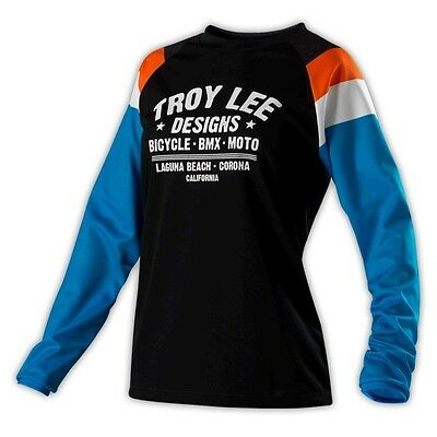 Troy Lee Designs 2014 Womens Rev Jersey Black Size Medium MD