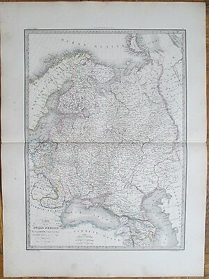 LAPIE: Large Detailed Map of Russia - 68 x 50 cm - 1842