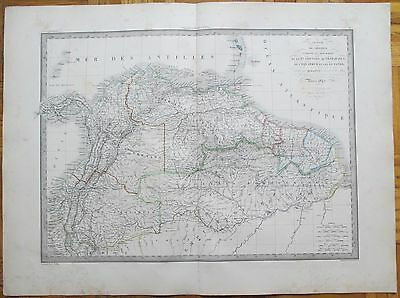 LAPIE LARGE Detailed Map of Russia 68 x 50 cm 1842 4490