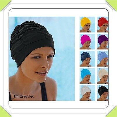 Ladies Swimming Hat/Cap/Turban Beautiful Colours New with Tags. By Fashy 3403
