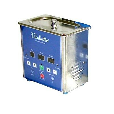 Fabulustre Ultrasonic Jewelry Cleaner 1.5 Pint with Heat & Timer Umax