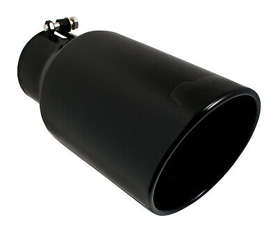 "Ford Powerstroke Super Duty Pypes Diesel BLACK 4"" In 6"" Out 12"" Long Exhaust Tip"