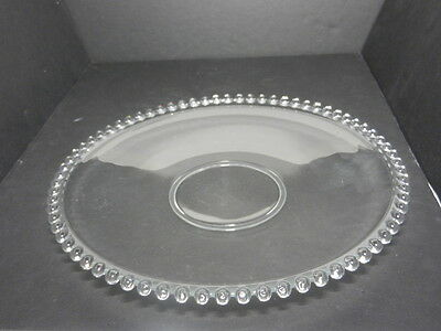 """Imperial Glass Candlewick Service Plate Clear 12"""" D ca 1936-1984"""