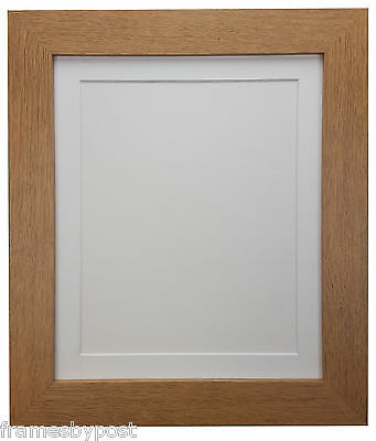 Metro Oak Picture Photo Frames with White Black or Ivory Mounts Quality MDF Wood