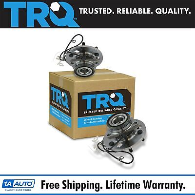 TRQ Front Wheel Hub & Bearing Pair Set for Chevy K1500 Pickup Tahoe w/ ABS 4WD