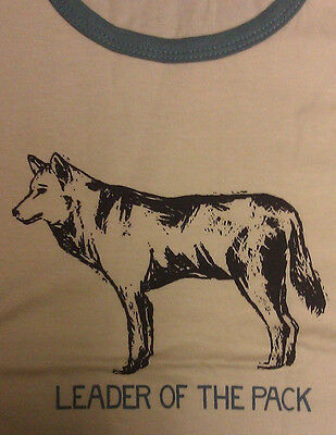 Leader of the Pack Tank Top - Adult size Extra Small - 100% cotton - Wolf print