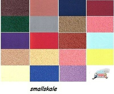 """Dolls House Carpet Self Adhesive A4 1/12th 30 Colours Available Approx 13"""" x 9"""""""