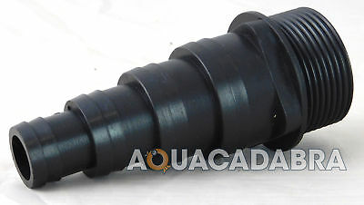 "1 1/4"" BSP THREADED 38mm 32m 25mm 20mm FLEXI PIPE HOSE TAIL KOI/FISH/POND/FILTER"