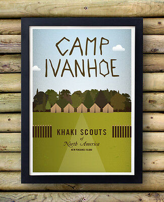 MOONRISE KINGDOM POSTER - Camp Ivanhoe  - Wes Anderson bill murray rushmore