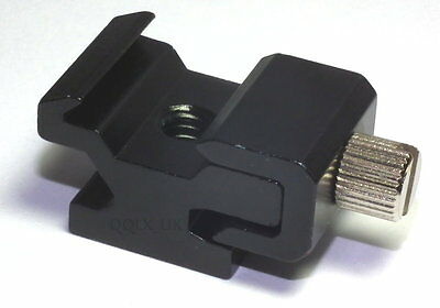 "Hot Shoe Flash Stand Adapter with 1/4""-20 Tripod screw - UK seller"